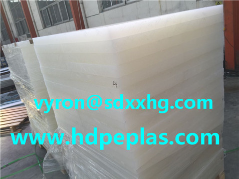 PP copolymer sheet with natural white color for leather cutting industry