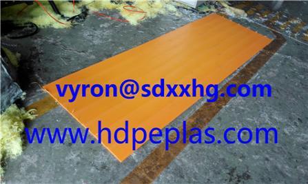 extrusion waterproof HDPE sheet orange color PE300
