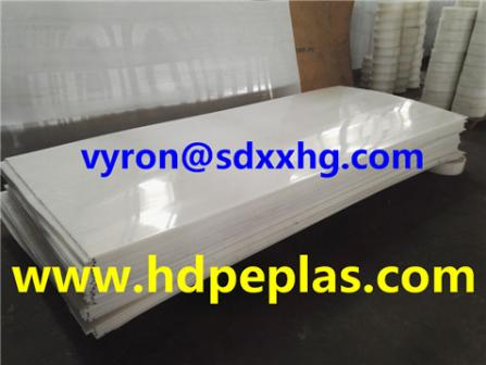 High quality PE Material extruded white color HDPE sheet