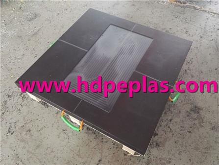 Black UHMWPE Crane outrigger pads/Stabilizer pads