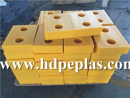 Yellow UHMWPE Dock Bumper /UHMWPE Block