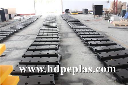Black UHMWPE Dock Fender Plate