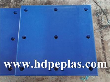 Blue UHMWPE Fender pad   UHMWPE Harbour defense