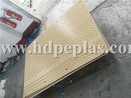 Yellow color HDPE Road way cover mats
