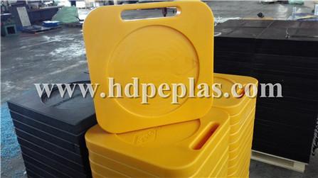 Bright Yellow Crane outrigger pad