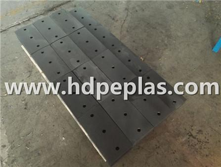 UHMWPE/HDPE impact resistant block.