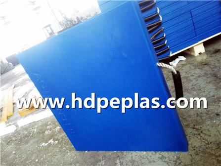 UHMWPE Polyethylene Crane Outrigger Pads/PE Plastic with Blue COLOR