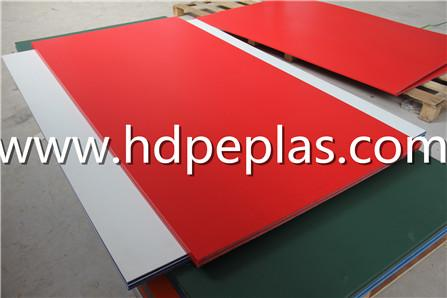 Red Single color HDPE sheet/sandwich HDPE panel