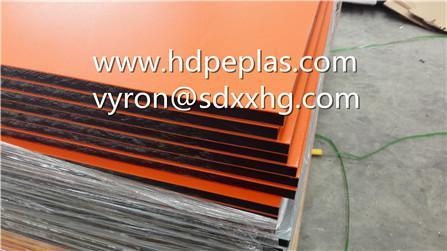 Orange-Black-Orange dual color texture engraving plastic board