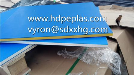 Dual color three layer texture HDPE board