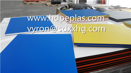 Dual colour three layer texture HDPE board