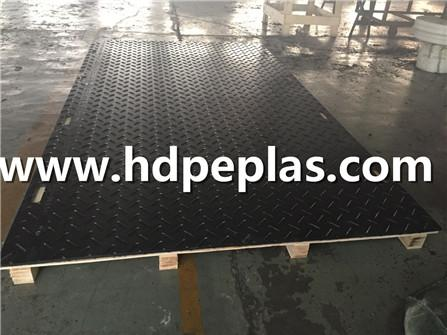 3000*2500mm HDPE black ground protection mats