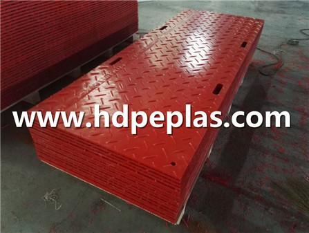 HDPE Ground cover mats Red color with logo