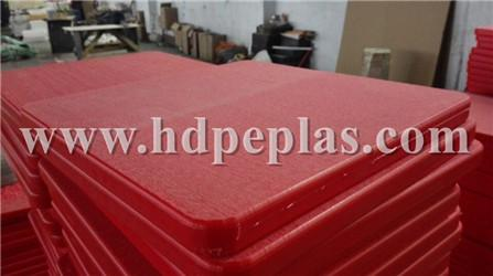 Rough surface UHMWPE outrigger pads