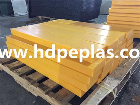 uhmwpe impeller/UHMWPE wear resistant CNC customized black plastic slide strip