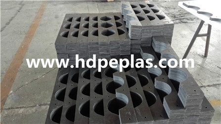 UHMWPE/HDPE tube support block