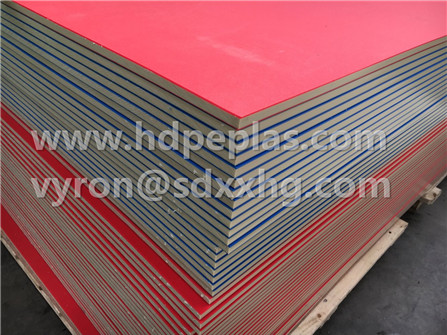 Wear resistant three layer sandwich color HDPE plastic sheet