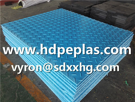 BLUE color HDPE extruded ground protection mats