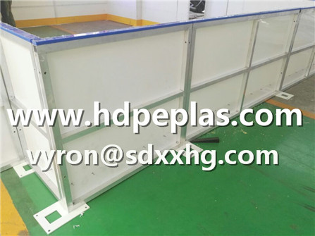 Customized dasher board for ice rink