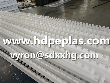 Serrated HDPE/UHMWPE strips