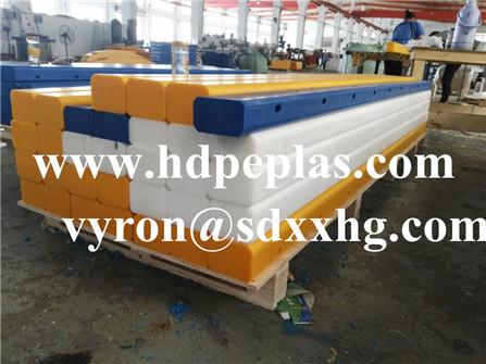 100mm high impact UHMWPE sheet Wear-resistant PE white strips