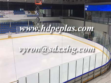 New Ice Hockey Dasher Board System installed in Beijing's gumnasium.