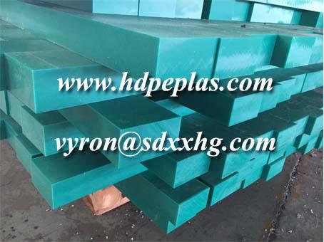Green UHMWPE HDPE wear strips