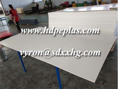Nature white HDPE extrued sheet