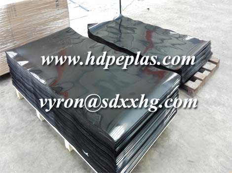 Black 2mm HDPE sheet with film protection