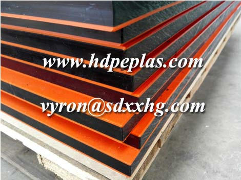 Double color HDPE sheet with orange peel surface