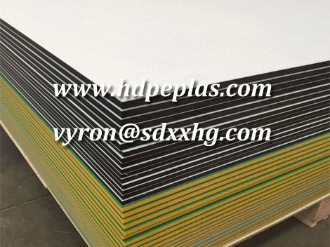 White/black/white HDPE sheet