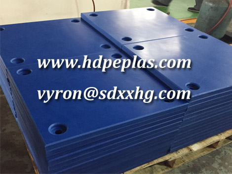 Flat uhmwpe pad for marine fender