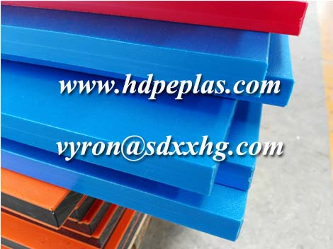 UV resistant hdpe orange peel sheet blue color