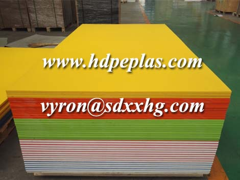Three layer HDPE sheet