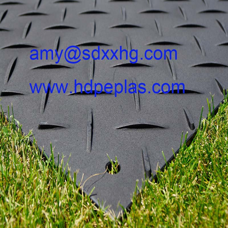 hdpe ground mat / heavy-duty plastic mats with 1/2 inch thickness
