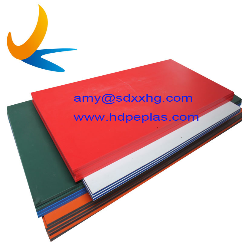 Dual Color Plastic Board HDPE Sheet Polyethylene Plank Multi Color HDPE Sheet